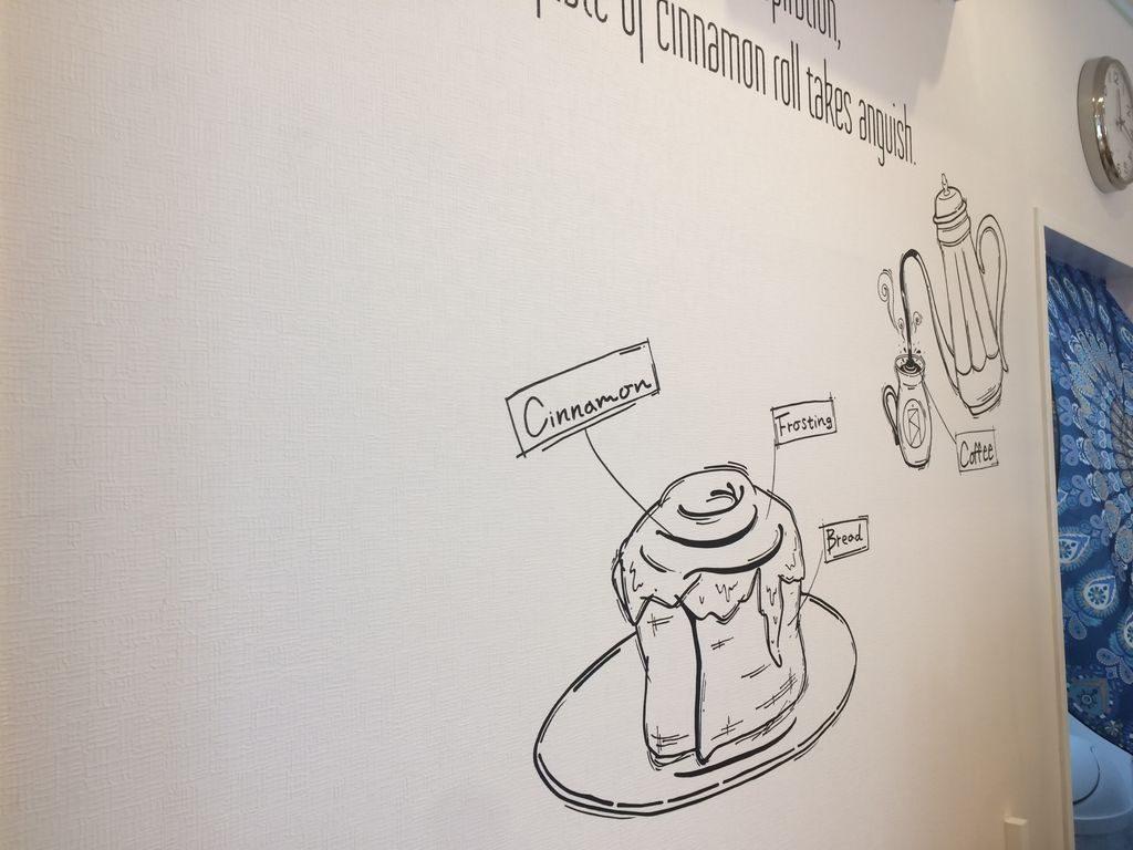 BrownRollの店舗壁画
