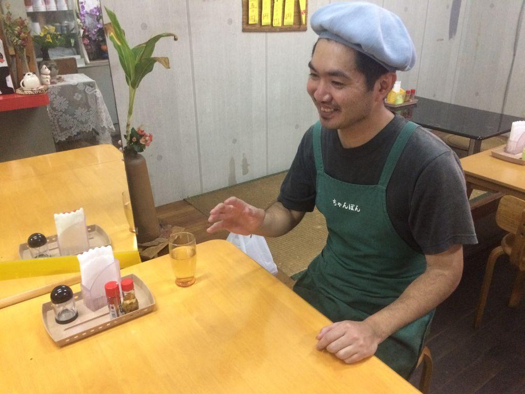 たこ焼きちゃんぽん店主護得久さん