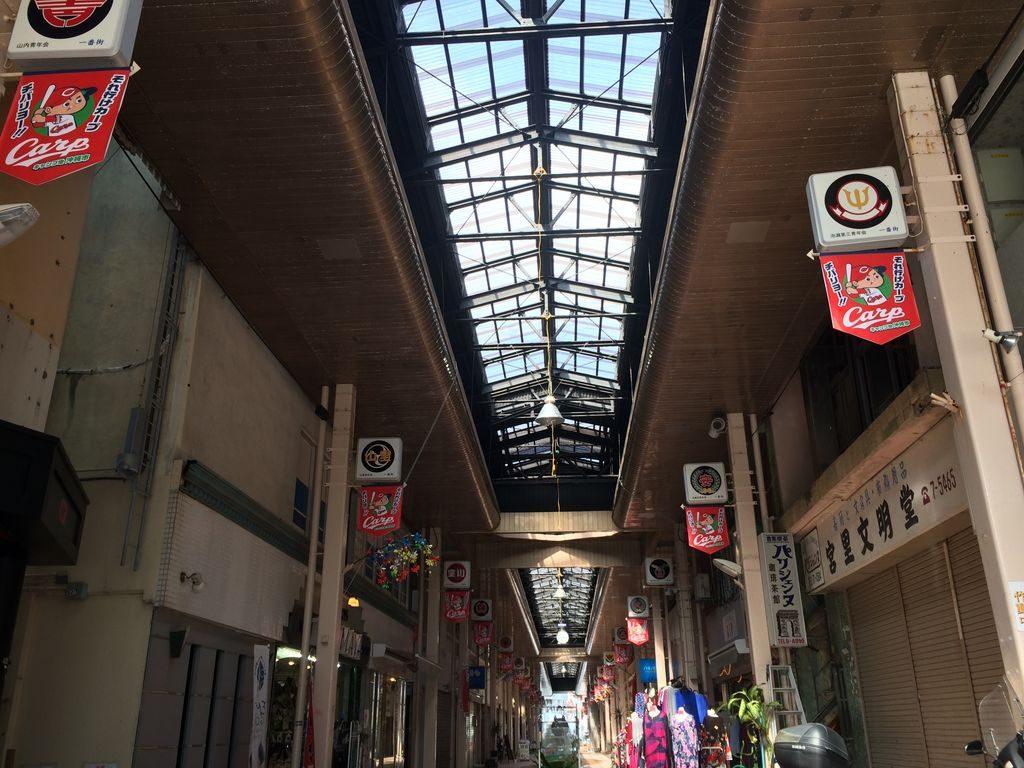 沖縄市一番街商店街アーケード