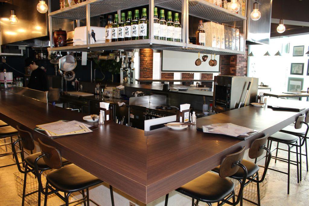 鉄板料理と和食の店なかたカウンター