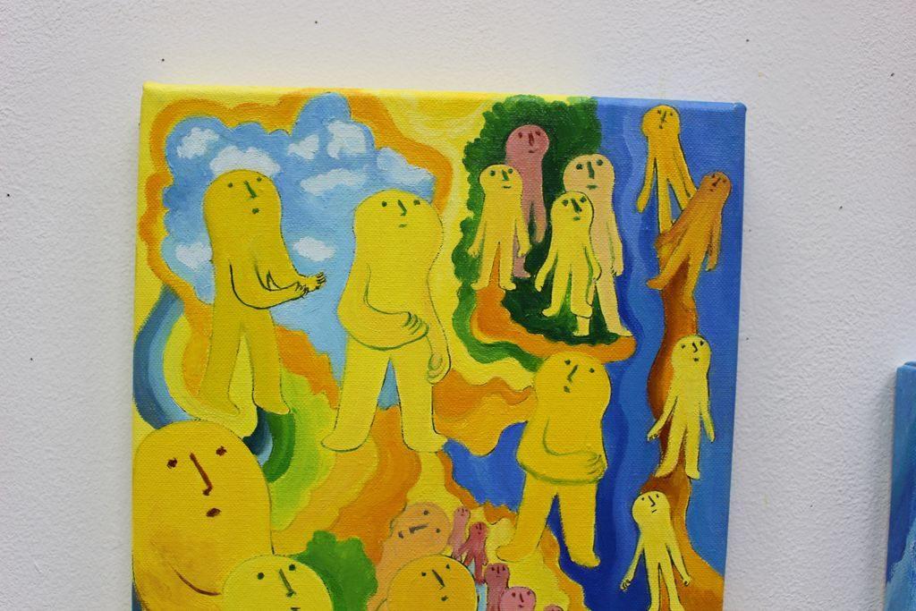 sksk黄色い人の絵
